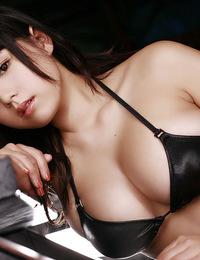 Ai Shinozaki exposes her curvy body and big natural tits